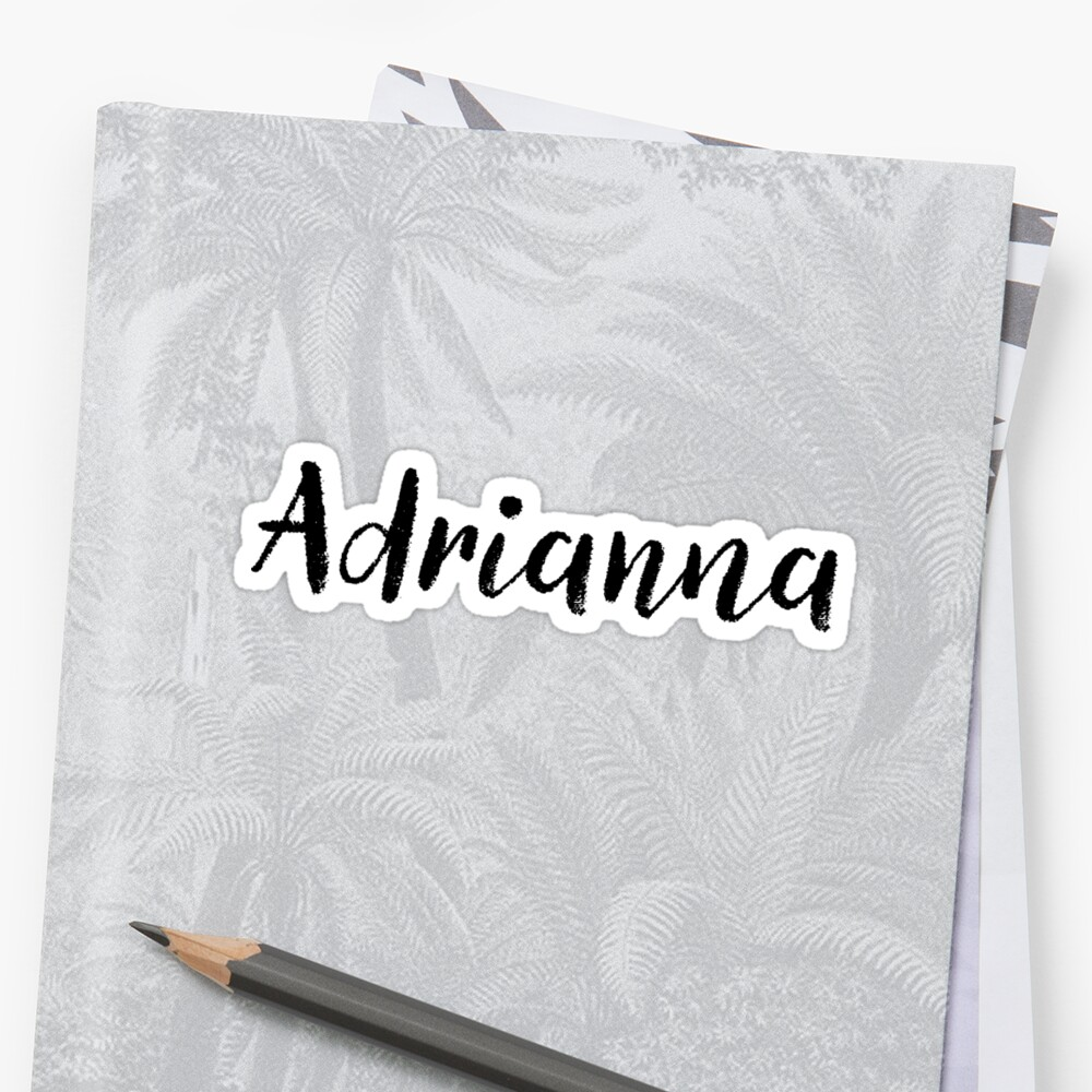 Adrianna - Custom Wife Daughter Girl Stickers Shirts by stamaigra