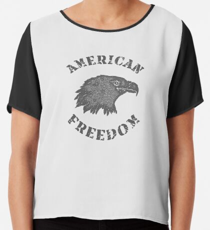 American Liberty Bald Eagle Chiffon Top
