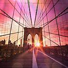 New York City - Brooklyn Bridge Sunset by Vivienne Gucwa