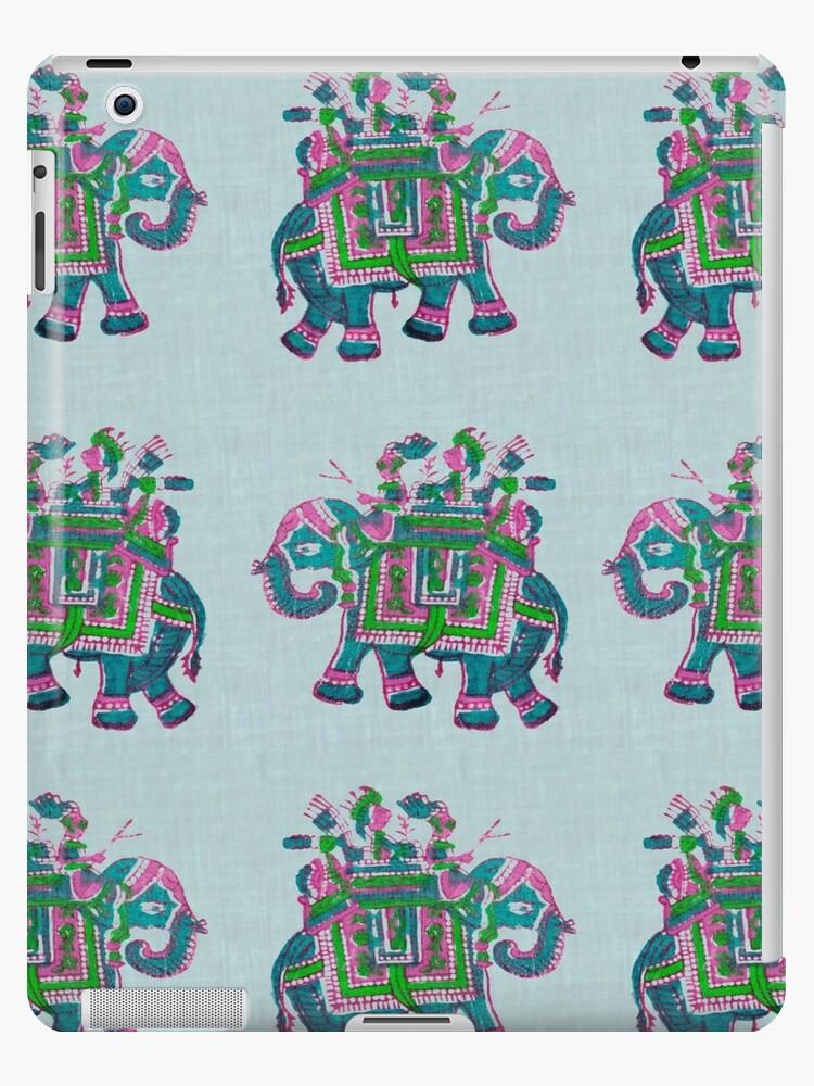 Elephant Block Printing Pattern by nehau