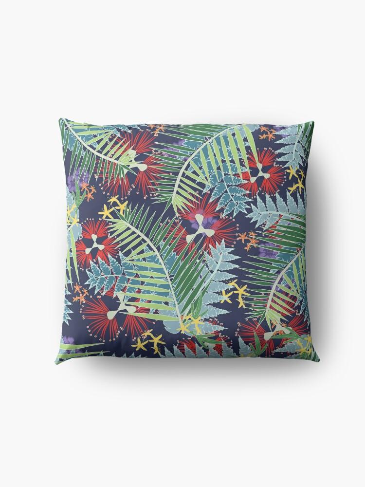 Alternate view of Leafy NZ Floor Pillow