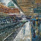 Rainy Train Station by Dusan Malobabic