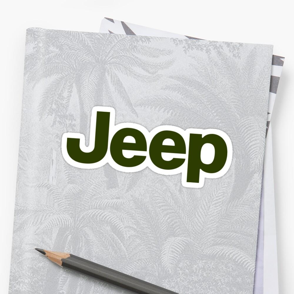 Jeep Logo Sticker Front