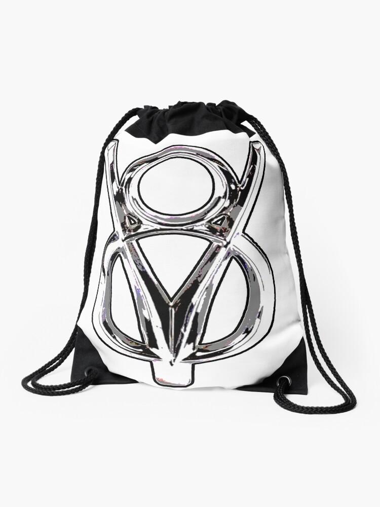 V8 Logo Drawstring Bag By 7ombarrett