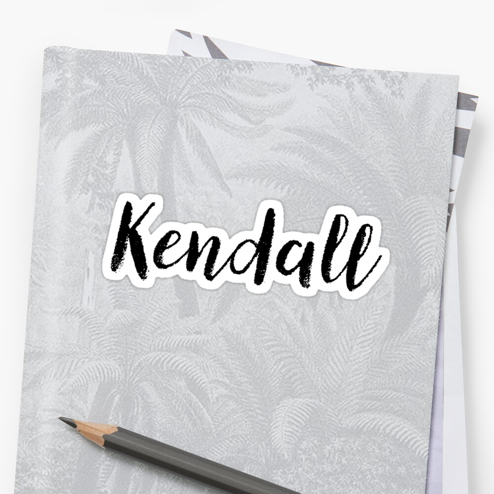 Kendall - Custom Girl Name Gifts Sticker Front