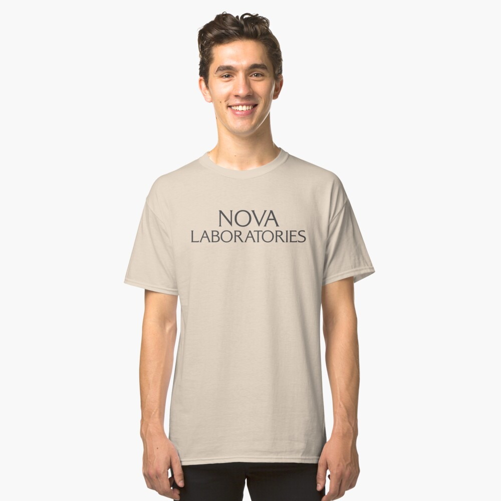 Nova Laboratories Typography Classic T-Shirt Front