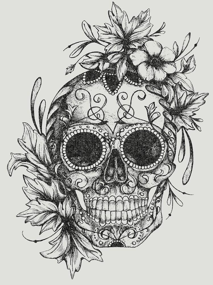 Día De Los Muertos Mexican Skull by snarkee