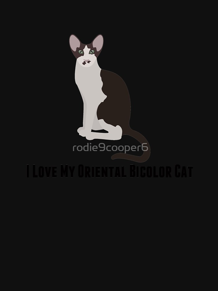 I Love My Oriental Bicolor Cat by rodie9cooper6