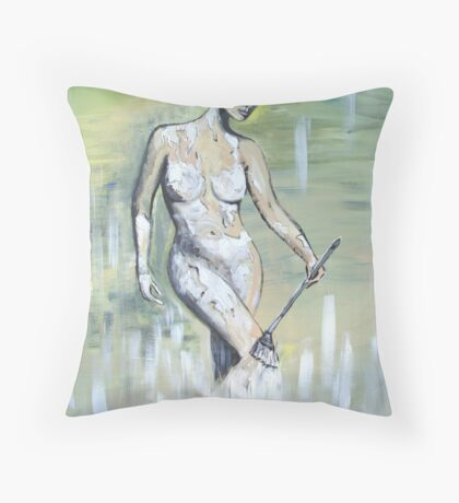 Body - Painted Throw Pillow