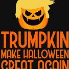 Halloween Trumpkin t shirt make halloween great again by TrendJunky