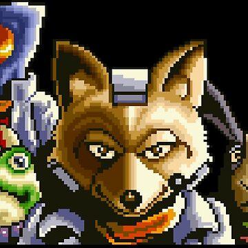 Star Fox / Fox McCloud Team by MisterPixel