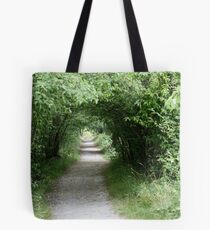 Tunnel of Leafy Green Tote Bag