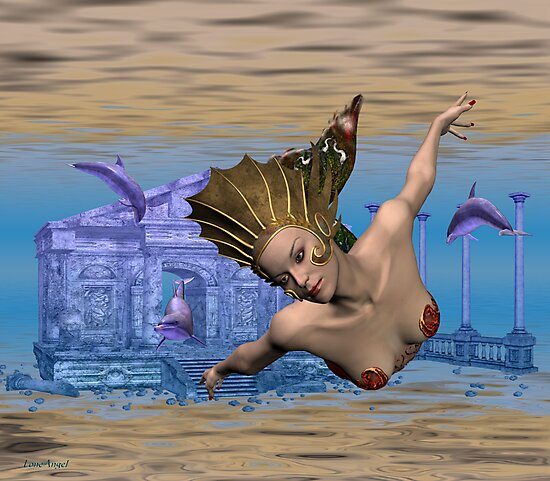 March Mermaid .. in Atlantis by LoneAngel