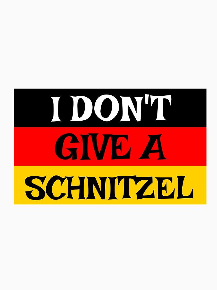 Oktoberfest I Don't Give A Schnitzel Funny German by CreativeStrike