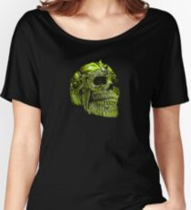 Spiked Skull Lime Green Women's Relaxed Fit T-Shirt