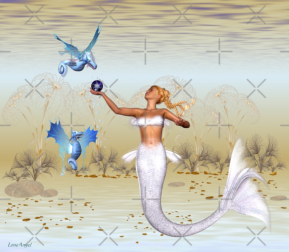 December mermaid .. sea creatures of the deep by LoneAngel