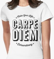 Carpe Diem. Womens Fitted T-Shirt