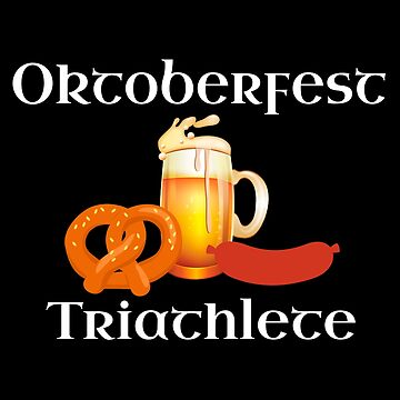 Funny Oktoberfest Triathlete Food Beer Pretzel Adult by CreativeStrike