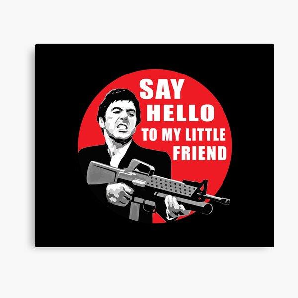 Say Hello to My Little Friend T-SHIRT AR-15 Assault Rifle Scarface Machine Gun