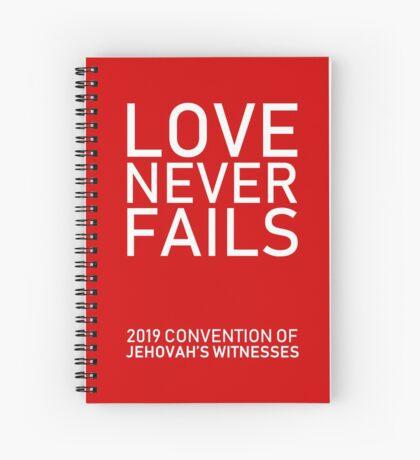 """Love Never Fails!"" 2019 JW Regional Convention Design #2 Spiral Notebook"