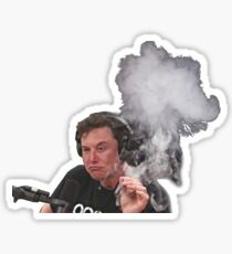 Elon Musk Smokes Sticker