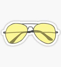 Yellow Sunglasses Sticker Sticker