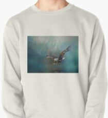 Eagle swooping for fish Pullover