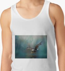 Eagle swooping for fish Tank Top