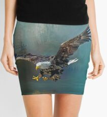 Eagle swooping for fish Mini Skirt