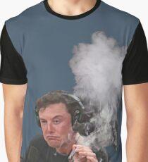 Camiseta gráfica Elon Musk fuma