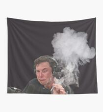 Elon Musk Smokes Wall Tapestry