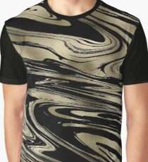 Smelt Gold Marble Graphic T-Shirt