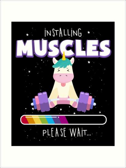 4c162975 Installing muscles unicorn loading funny lifting shirt png 413x549 Installing  muscles unicorn
