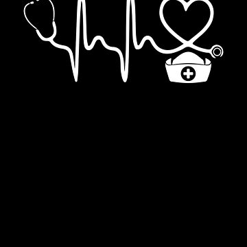 Nurse Stethoscope Heartbeat T Shirt by chihai