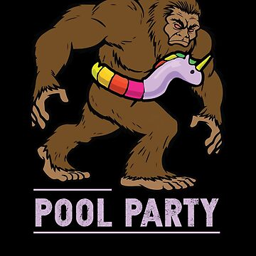 Pool Party Bigfoot Unicorn Float Shirt Sasquatch Shirt Gift by chihai