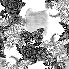 Pattern Roses and Leaves  by ramanandr