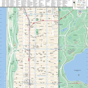 New York City - Upper West Side / Central Park Map - HD by superfunky