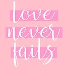 """Love Never Fails""! #7 by JW Stuff"