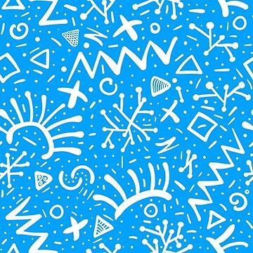 Hand drawn swirl whorls pattern Doodle Art Curls Background by Darcraft28