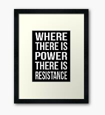 POWER VS RESISTANCE. Electrician  Framed Print