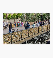 Ponts des Arts Footbridge, Paris, France Photographic Print