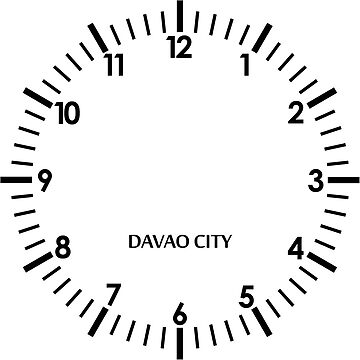 Davao City Time Zone Wall Clock, Philippines by gorbie1276