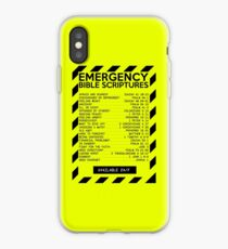 Emergency Bible Scriptures Numbers (New and Improved) iPhone Case