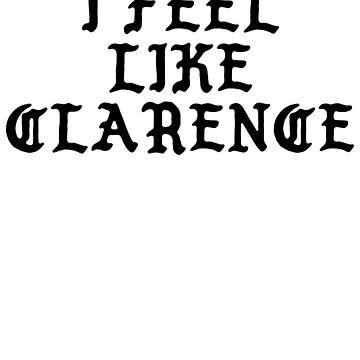 I FEEL LIKE Clarence - TLOP Parody Name Stickers by uvijalefx