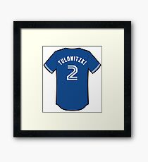 Troy Tulowitzki Jersey Framed Print