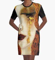 Klimt Golden Tears Graphic T-Shirt Dress
