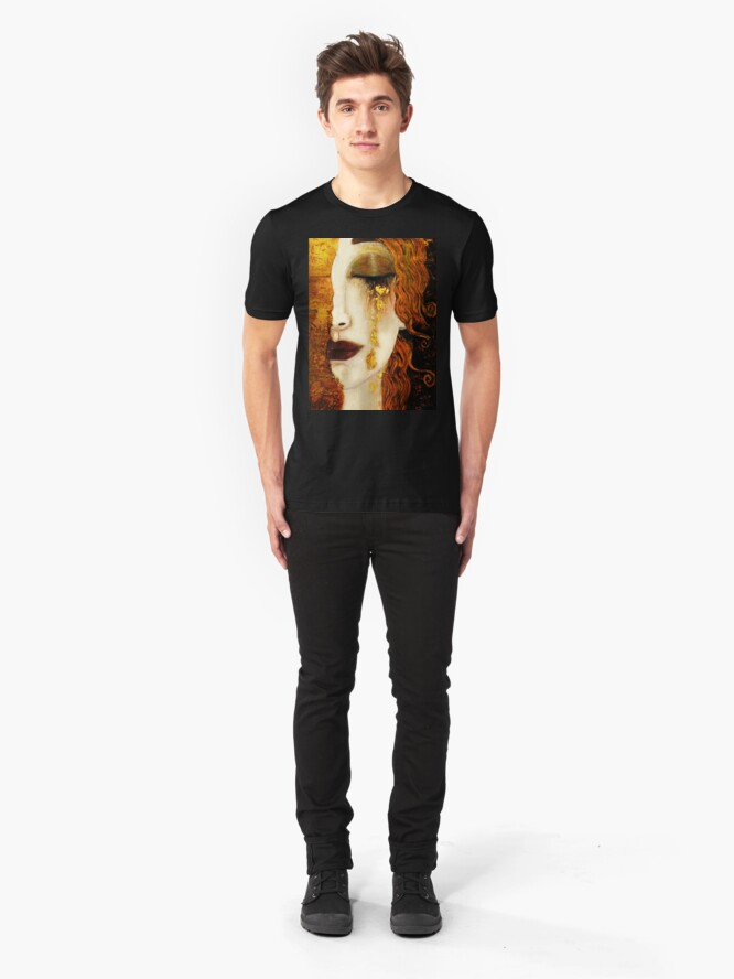 Alternate view of Klimt Golden Tears Slim Fit T-Shirt
