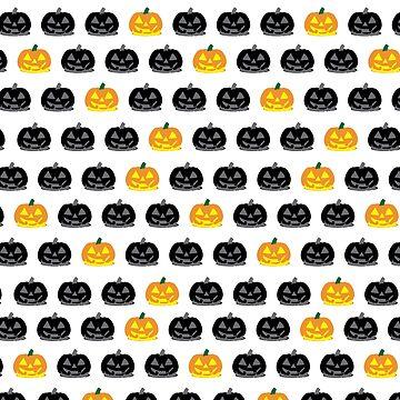Spooky Halloween Pumpkin Jack-o-Lantern Pattern by BlackCoffeeCake