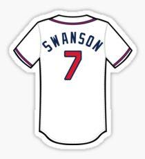 Dansby Swanson Jersey Sticker