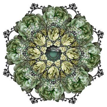 spooky flowers mandala by burenkaUA